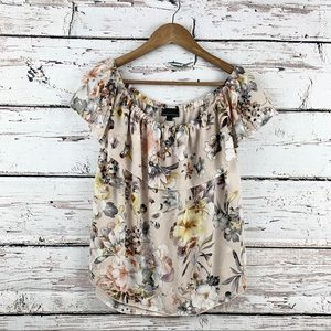 I.JEANS BY BUFFALO Off The Shoulder Floral Top EUC